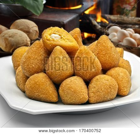 Coxinha de Galinha - Brazilian deep fried chicken snack, popular at local parties.