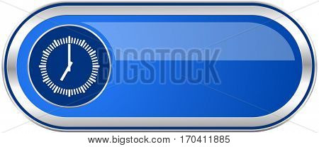 Time long blue web and mobile apps banner isolated on white background.