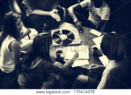 People Friendship Music Talking Entertainment Togetherness Concept