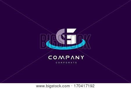g cyan magenta blue letter alphabet vector company logo icon sign design template