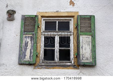 Window / Old window with shutters closed
