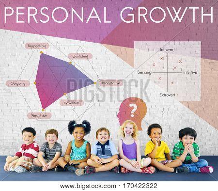 Development Personality Improvement Graphic Word Symbol