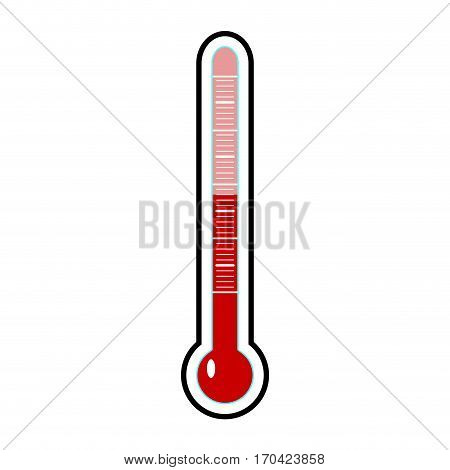Thermometer template vector. Temperature cold and warm celsius or fahrenheit illustration