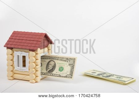 The Toy House Door Jammed Banknote Of Ten Dollars
