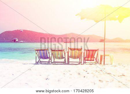 Beautiful beach at raya island, Phuket, Thailand