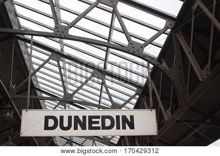 Sign On Dunedin Railway Station