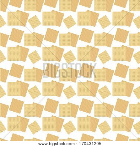 Passover seamless pattern with matzah. Pesach endless background, texture. Vector illustration
