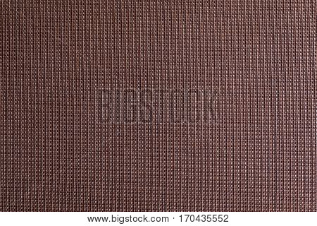 Tight Weave Texture of Brown Fabric Background