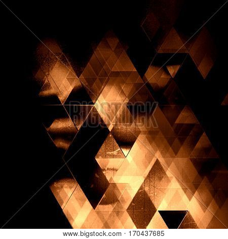 geometric cover design, triangles pattern decor, ghost old movie design, triangles template, triangles background abstraction,