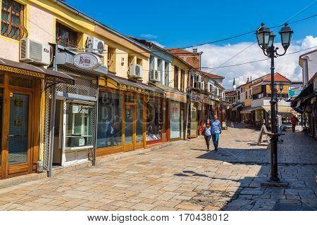 Marketplace In Old Town In Skopje