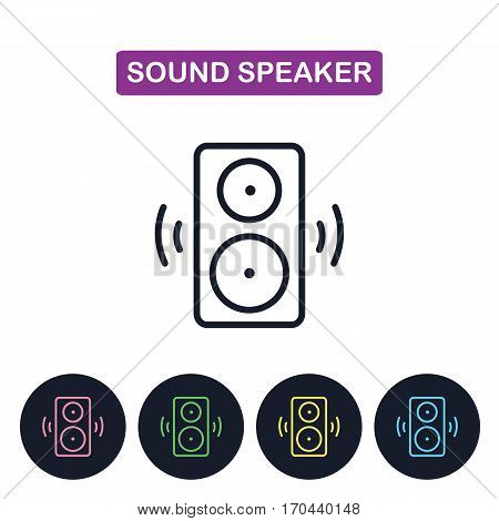 Vector sound speakerr icon. Simple thin line icon for websites web design mobile app infographics.