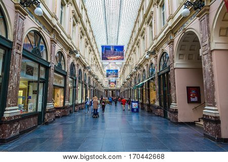 Royal Shopping Galleries In Brussels