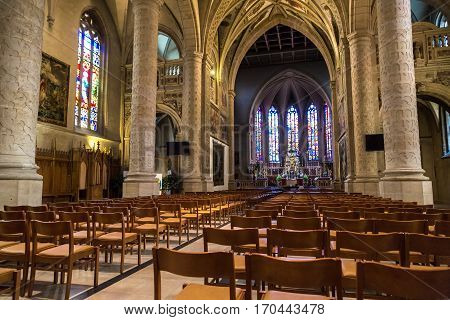 Interior Of Notre-dame In Luxembourg