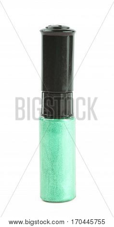 Bottle of nail polish paint isolated over the white background