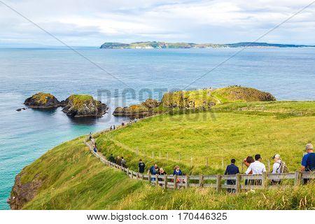 Way To Rope Bridge In Northern Ireland