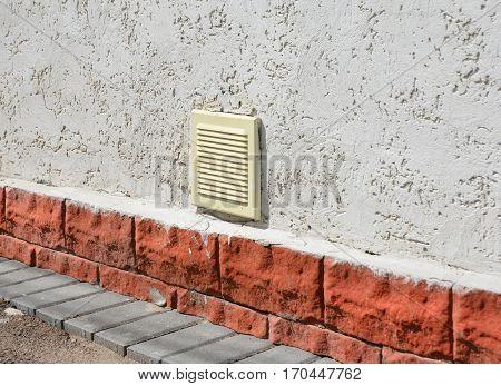 House garage ventilation system exterior. Garage ventilation system installation outdoor.