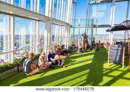 People Inside The Shard In London