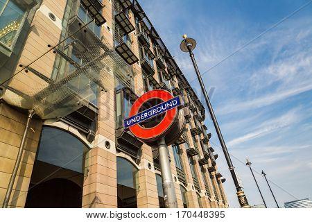 Famous London Underground Sign