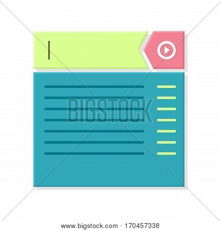 Web page abstract window. Website page dimension. Mobile and desktop website design development process in minimalist style, computer system illustration. Responsive design icon flat. Vector