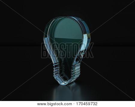 Glass Bulb Symbol  3D Illustration