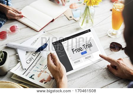 Free Trial Storage Member Concept
