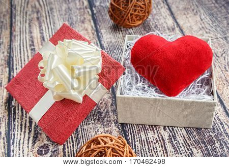 Ardent heart as a gift to his beloved on Valentine's Day