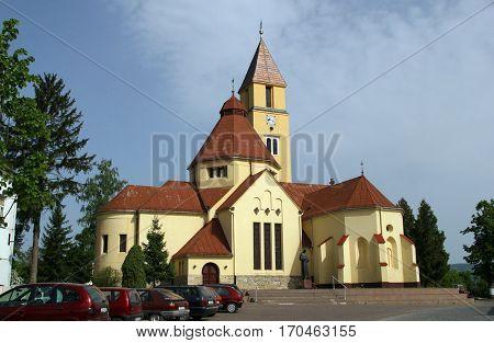 KRASIC, CROATIA - MAY 15: Parish church of the Holy Trinity in Krasic, Croatia on May 15, 2012