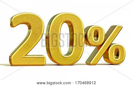 Gold Sale 20%, Gold Percent Off Discount Sign, Sale Banner Template, Special Offer 20% Off Discount Tag, Twenty Percentages Up Sticker, Gold Sale Symbol, Gold Sticker, Banner, Advertising, Luxury Sale