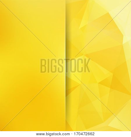 Polygonal Yellow Vector Background. Blur Background. Can Be Used In Cover Design, Book Design, Websi
