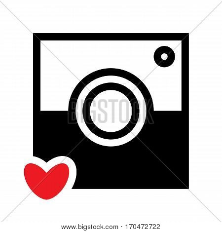 Photo Camera Icon Isolated