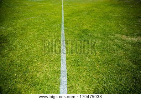 Boundary line of a playing field in stadium