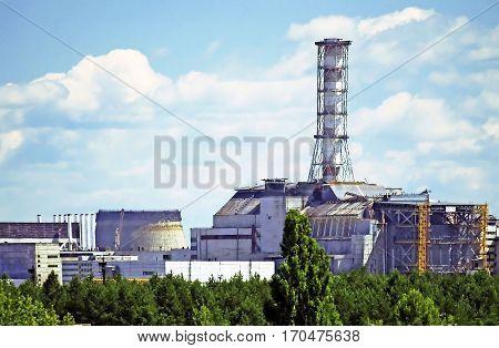 Chernobyl power plan in Ukraine in the summer