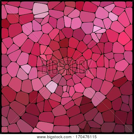 Abstract Geometrical Pink Background Consisting Of Geometric Elements Arranged On A Black Background