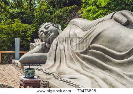 Sleeping Buddha At The Long Son Pagoda In Nha Trang
