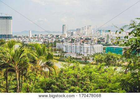 Beautiful View On Nha Trang And Bay Of The South China Sea Blue Sky Background In Khanh Hoa Province