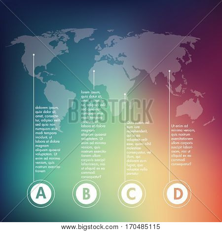 Vector design elements for infographics about world business