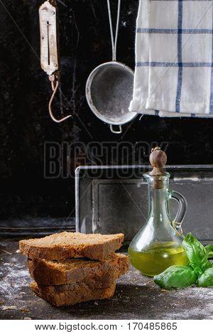 Sliced Homemade Rye Bread