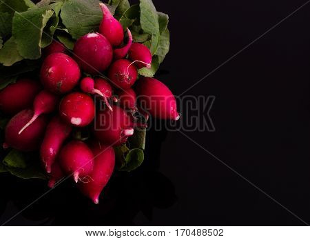 Close Up Of Fresh Turnips On A Black Background