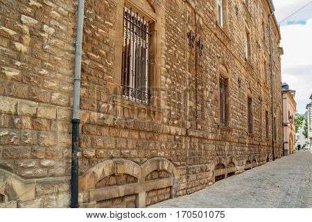 LUXEMBOURG, LUXEMBOURG - JUNE19, 2016: Old street in Luxembourg