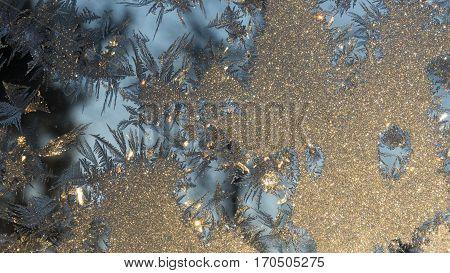 christmas window Art of Frost beautiful winter background