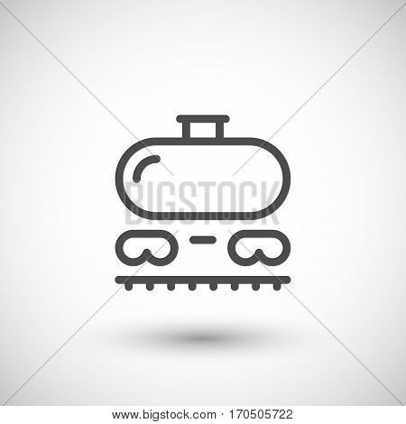 Railroad tank line icon isolated on grey. Vector illustration