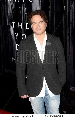 LOS ANGELES - FEB 2:  Johnny Galecki at the