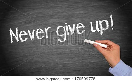 Never give up - Motivation and Persistence