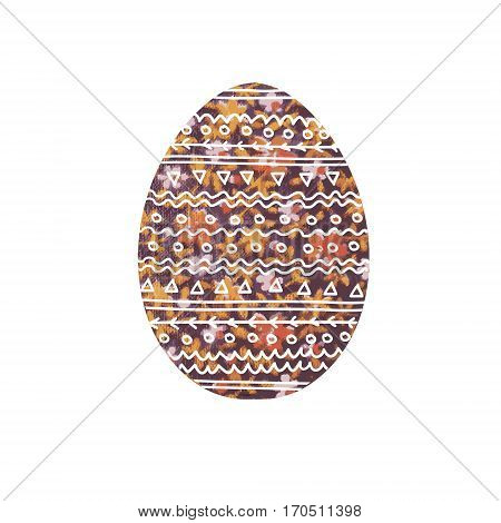 Decorative Easter egg Image of an egg with floral ornament