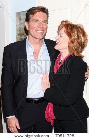 LOS ANGELES - JAN 5:  Peter Bergman, Kathleen Noone at the