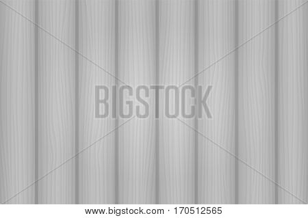 Hand Drawn Detailed White Wooden Texture. Vector Illustration