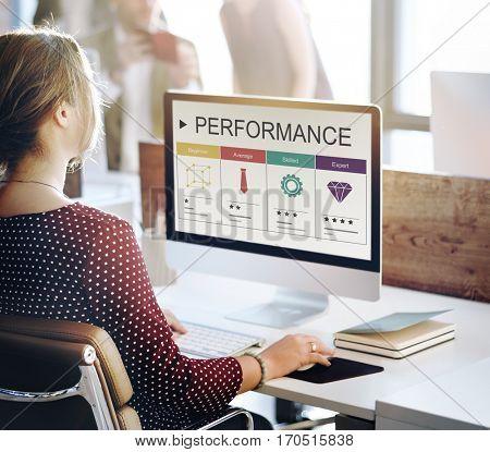 Development Performance Self-Improvement Ratings Icon