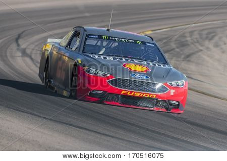 January 31, 2017 - Avondale, Arizona, USA:  Joey Logano (22) takes his Penske Ford Fusion through the turns during a practice at the Phoenix Open Test at Phoenix Raceway in Avondale, Arizona.