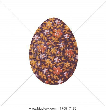 Easter egg. Image of an egg with floral ornament. Vector illustration with Easter motif