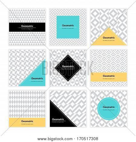 Geometric Texture Set 003